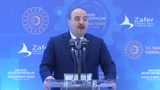 turkish industry and technology minister mustafa varank delivers his speech during an event in turkey's western kutahya province on february 27,... - entrepreneur stock videos & royalty-free footage