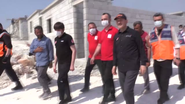 turkish interior minister suleyman soylu inspects durable brick shelters built for displaced civilians in idlib by turkey on june 07, 2020. following... - durability stock videos & royalty-free footage