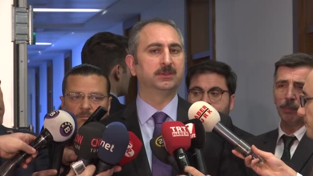 turkish justice minister abdulhamit gul said the national consensus committee of the country's two political parties has finalized work to form an... - minister president stock videos and b-roll footage