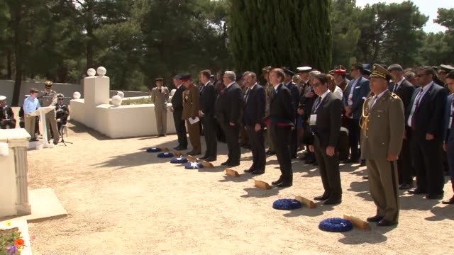 turkish minister of culture and tourism mahir unal, australian minister for veterans' affairs dan tehan and new zealand defence minister gerry... - new zealand culture stock videos & royalty-free footage