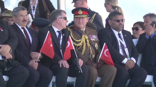 turkish minister of culture and tourism mahir unal australian minister for veterans' affairs dan tehan new zealand defence minister gerry brownlee... - new zealand culture stock videos and b-roll footage