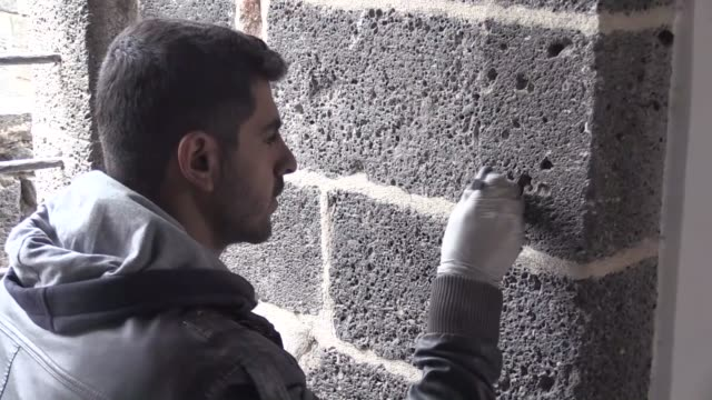 turkish mosque damaged by pkk terror attacks in the southeastern diyarbakir province will reopen for worship next year many of the historic sites in... - mosque stock videos & royalty-free footage