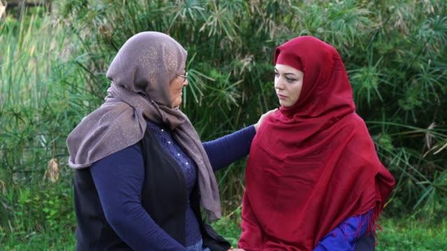 Turkish muslim mother and daughter conversation