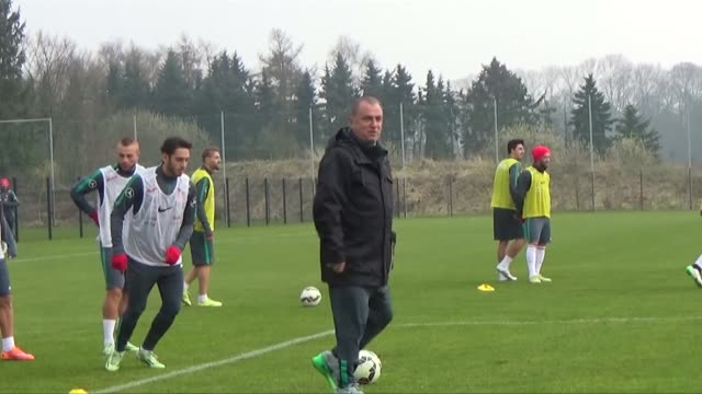 turkish national team's players train ahead of uefa euro 2016 qualifying match between turkey and the netherlands which will be played on march 28,... - national team stock videos & royalty-free footage