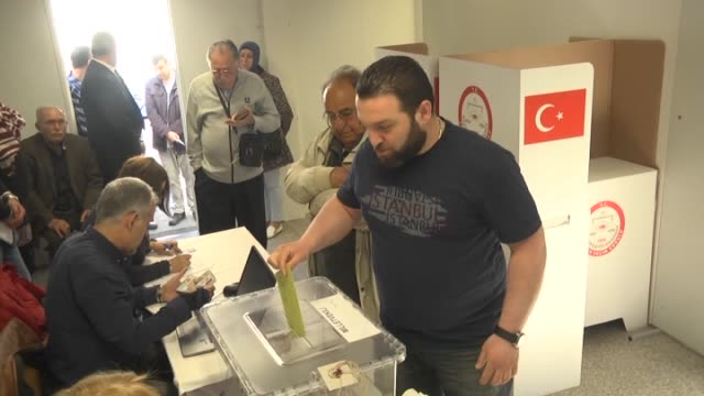 Turkish people cast their vote for Turkish general election to elect the members of the Grand National Assembly at Consulate General of Berlin...
