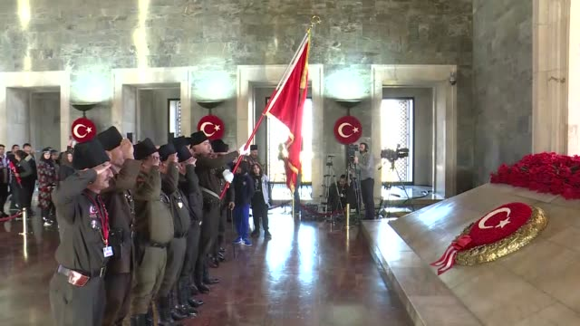 turkish people pay tribute to mustafa kemal ataturk, the founder of republic of turkey, on his 81st death anniversary at anitkabir on november 10,... - place concerning death stock videos & royalty-free footage