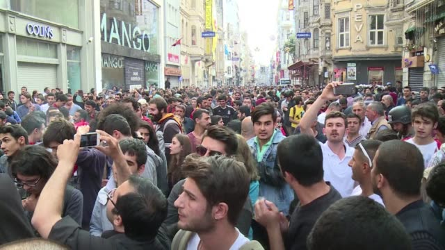 Turkish police fire tear gas and water cannon at hundreds of people in Istanbul and Ankara as demonstrations marking a year since deadly anti...