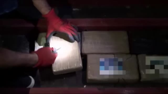 turkish police seize more than nine kilograms of cocaine in a cargo ship carrying bananas on november 01 2018 in mersin turkey police searched the... - banana stock videos & royalty-free footage