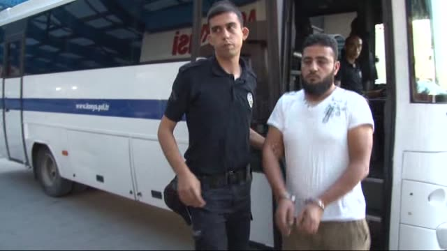 turkish police take 9 people into custody on suspicion of providing logistical support to daesh in turkey's konya on 14 july 2015 - konya stock videos and b-roll footage