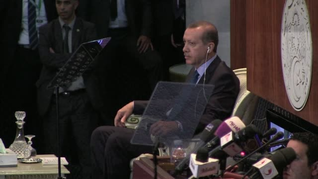 turkish premier recep tayyip erdogan left morocco for algeria on tuesday the second leg of a north african tour as the worst political crisis of his... - recep tayyip erdoğan stock videos & royalty-free footage