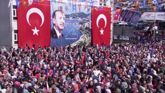 turkish president and leader of ruling justice and development party recep tayyip erdogan speaks during a campaign rally for march 31 local elections... - social justice concept 個影片檔及 b 捲影像
