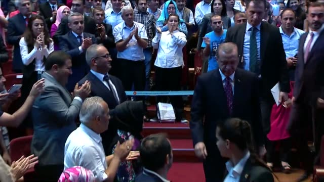 Turkish President Erdogan delivers a speech at Bestepe Millet Congress and Culture Center in capital Ankara on August 24 2016 Turkey's operation...