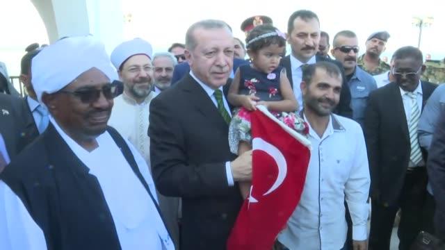 Turkish President Recep Tayyip Erdogan accompanied by his Sudanese counterpart Omar AlBashir visits former Ottoman port city Suakin in eastern Sudan...