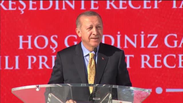 turkish president recep tayyip erdogan addresses gagauz turks in comrat capital of moldova's autonomous region gagauzia on october 18 2018 - moldova stock videos and b-roll footage