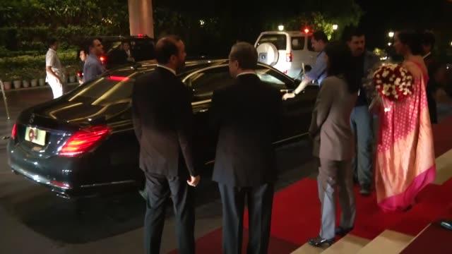 Turkish President Recep Tayyip Erdogan arrives New Delhi India for official visits on April 30 2017