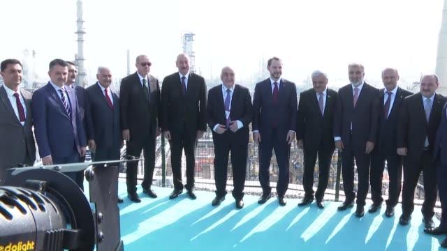 Turkish President Recep Tayyip Erdogan Azerbaijani President Ilham Aliyev Turkish Parliament Speaker Binali Yildirim Treasury and Finance Minister...