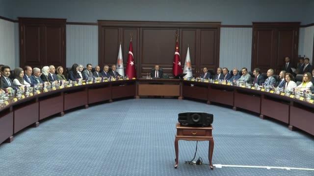 turkish president recep tayyip erdogan chairs ruling justice and development party's central decision and executive board meetingat ak party... - ordförande bildbanksvideor och videomaterial från bakom kulisserna