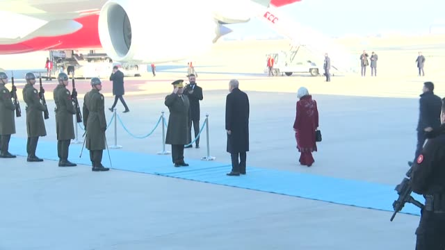 turkish president recep tayyip erdogan departs from esenboga airport on december 03, 2019 for a visit to u.k., where he will attend a nato leaders... - germany stock videos & royalty-free footage