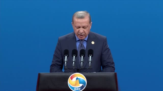 "turkish president recep tayyip erdogan described the belt and road initiative as ""against terrorism"" adding that turkey will give all kinds of... - belt stock videos & royalty-free footage"