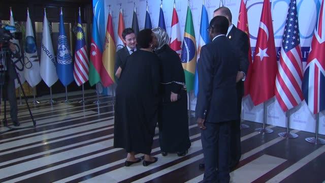 Turkish President Recep Tayyip Erdogan his wife Emine Erdogan South African President Jacob Zuma his wife Tubeka Zuma UN Secretary General Ban Kimoon...
