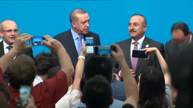turkish president recep tayyip erdogan holds a press conference after the g20 summit at the hangzhou international expo center on september 05 2016... - hangzhou stock videos & royalty-free footage