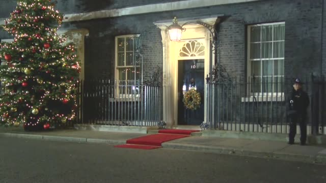 turkish president recep tayyip erdogan leaves from 10 downing street in central london on december 03 after meeting with leaders of germany uk france... - chancellor of germany stock videos & royalty-free footage