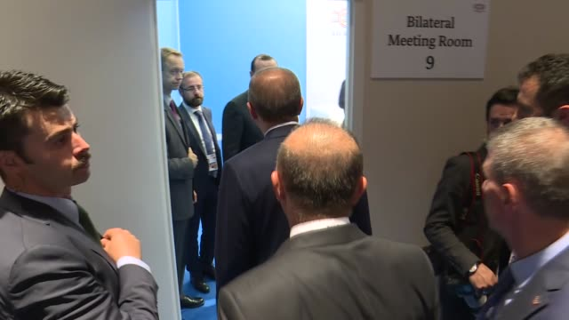 turkish president recep tayyip erdogan meets with secretarygeneral of the united nations antonio guterres as part of opening day of the g20 summit on... - g20 leaders' summit stock videos & royalty-free footage