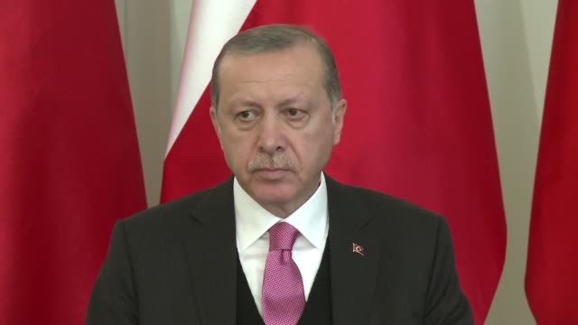 turkish president recep tayyip erdogan met with his polish counterpart in warsaw on tuesday marking his first official bilateral visit to an eu... - recep tayyip erdoğan stock videos & royalty-free footage