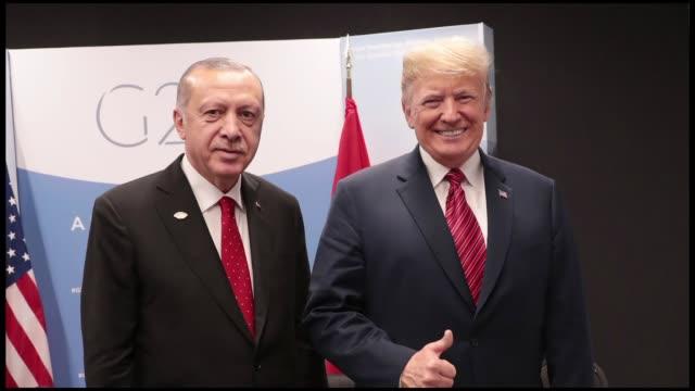 turkish president recep tayyip erdogan met with his us counterpart donald trump in argentina on saturday. the closed-door meeting between two leaders... - recep tayyip erdoğan stock videos & royalty-free footage