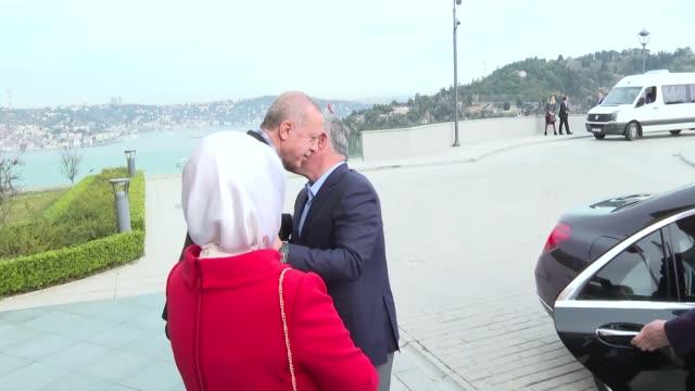 Turkish President Recep Tayyip Erdogan met with Jordanian King Abdullah II over a breakfast in Istanbul on Sunday Turkish firstlady Emine Erdogan and...