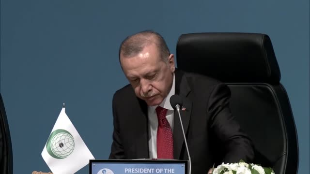 turkish president recep tayyip erdogan on friday described the israeli killings of scores of palestinians as thuggery atrocity and state terrorin his... - silver platter stock videos and b-roll footage