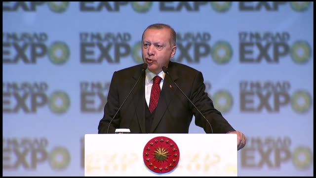 turkish president recep tayyip erdogan on saturday said the annual capacity of new istanbul airport can be raised to 200 million passengers if needed... - 2 5 months stock videos & royalty-free footage