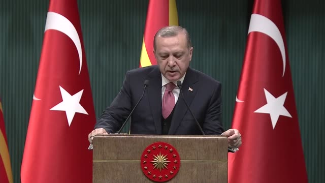 """Turkish President Recep Tayyip Erdogan on Tuesday reiterated Turkey's firm stance against the terror group behind the 2016 defeated coup """"We are..."""