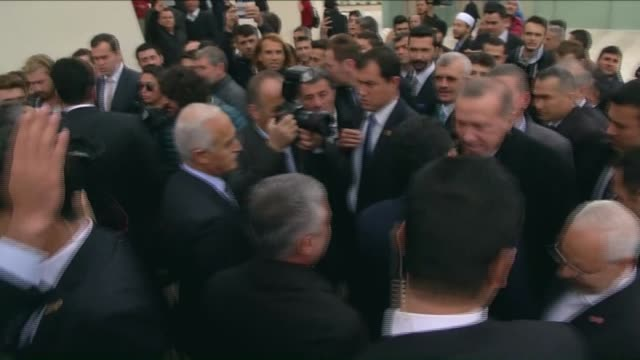 turkish president recep tayyip erdogan perform the friday prayer at marmara university faculty of theology mosque in istanbul and meets with the... - theology stock videos and b-roll footage