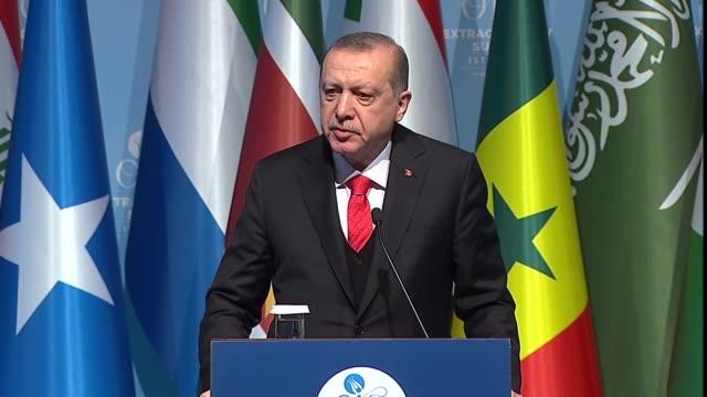 turkish president recep tayyip erdogan said on wednesday an istanbul summit of the organization of the islamic cooperation had showed the world... - g8:s toppmöte bildbanksvideor och videomaterial från bakom kulisserna