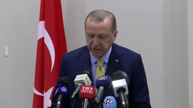 turkish president recep tayyip erdogan said wednesday that turkey wants to walk along with africa when a new world order is being established.... - ヌアクショット点の映像素材/bロール