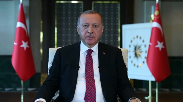 "turkish president recep tayyip erdogan saturday reiterated determination to fight against those targeting turkey's development ""we will continue to... - democracy stock videos & royalty-free footage"