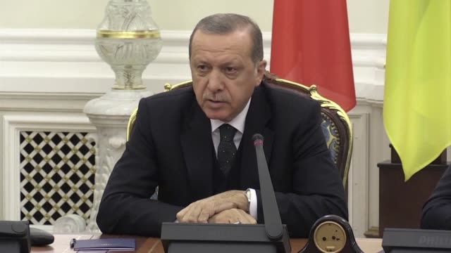 turkish president recep tayyip erdogan says he is saddened by a decision by the us embassy to stop all regular visa services in turkey amid a... - recep tayyip erdoğan stock videos & royalty-free footage
