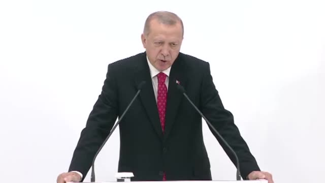 turkish president recep tayyip erdogan speaks during a press conference on the second day of the g20 summit at intex osaka exhibition center in osaka... - juni bildbanksvideor och videomaterial från bakom kulisserna