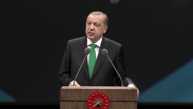 turkish president recep tayyip erdogan speaks during the national doctors' day program at bestepe national congress and culture center in ankara,... - bosnian war stock videos & royalty-free footage