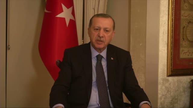 turkish president recep tayyip erdogan speaks to journalist about the assasination of andrey karlov russian ambassador to turkey in ankara turkey on... - assassination of andrei karlov stock videos & royalty-free footage