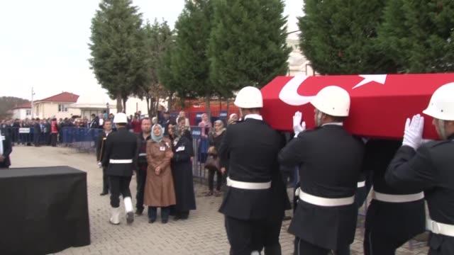 turkish president recep tayyip erdogan turkish prime minister binali yildirim and relatives of muhammet fatih safiturk who was martyred in an attack... - türkischer premierminister stock-videos und b-roll-filmmaterial