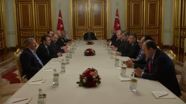 turkish president recep tayyip erdogan, turkish prime minister binali yildirim, turkish deputy prime minister numan kurtulmus, turkey's minister of... - 2016 stock videos & royalty-free footage