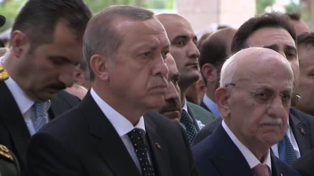 turkish president recep tayyip erdogan, turkish prime minister binali yildirim, chief of the general staff of the turkish armed forces hulusi akar... - patriotism stock videos & royalty-free footage