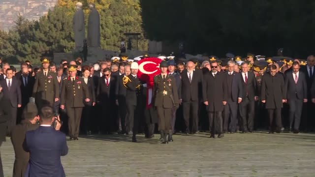turkish president recep tayyip erdogan, vice president fuat oktay, parliament speaker mustafa sentop, ministers, main opposition republican people's... - 1938 stock videos & royalty-free footage