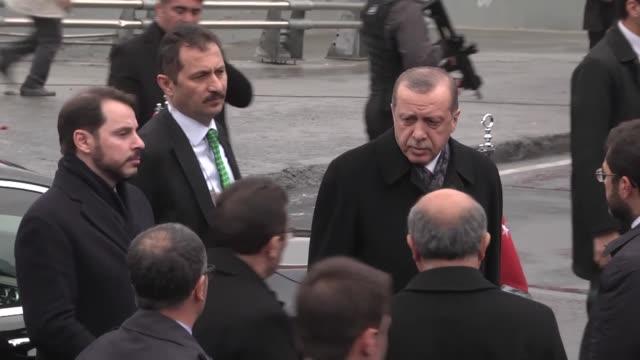 turkish president recep tayyip erdogan visits the site of a terror attack near the besiktas football club stadium vodafone arena to pay tribute to... - besiktas stock videos and b-roll footage