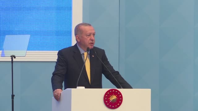 turkish president recep tayyip erdogan warns us president donald trump's pledge to recognise israel's disputed annexation of the golan heights would... - recep tayyip erdoğan stock videos & royalty-free footage