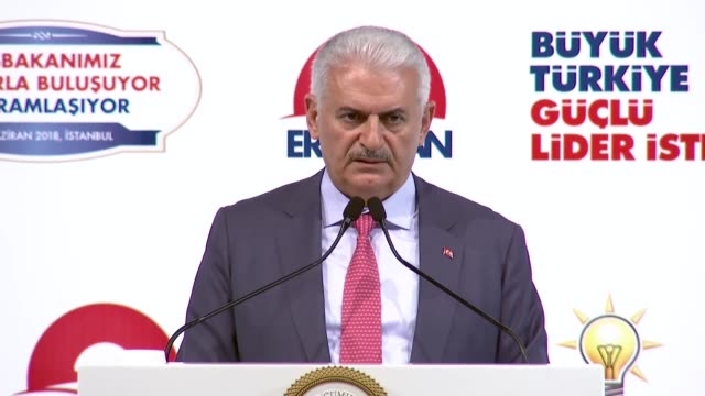 turkish prime minister binali yildirim addresses alevi opinion leaders in istanbul, turkey on june 16, 2018. prime minister binali yildirim on... - istanbul province stock videos & royalty-free footage