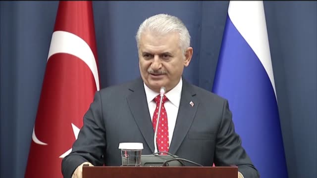 turkish prime minister binali yildirim delivers a speech at the moscow state institute of international relations in moscow russia on december 06 2016 - binali yildirim stock-videos und b-roll-filmmaterial