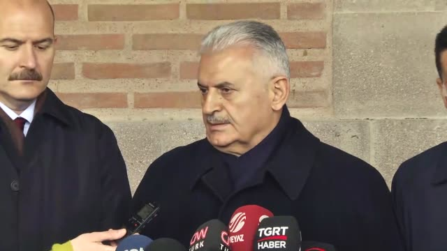 turkish prime minister binali yildirim friday said turkey's electoral body had the last word on objections to the referendum result as the main... - türkischer premierminister stock-videos und b-roll-filmmaterial